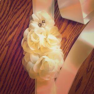 Ivory Bridal Belt Sash